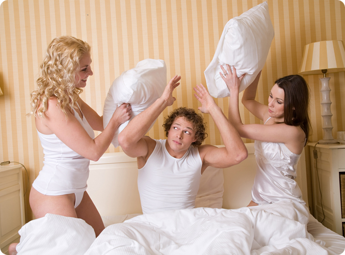 секс с женой втроем